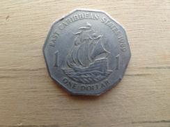 East  Caraibes  1  Dollar  1989  Km 20 - British Caribbean Territories