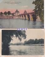 2  CPSM 9X14  De CHATELLERAULT   (86) -  PONT CAMILLE De HOGUES Et MANUFACTURE - PONT HENRI IV Sur La VIENNE - Chatellerault