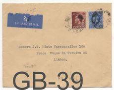 CAD: LONDON / COVER BY AIR MAIL / PARIS TO PORTUGAL  / Caixa #10 - 1902-1951 (Re)