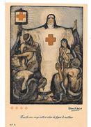 CROIX ROUGE De BELGIQUE - Par Fernand ALLARD L'OLIVIER -Mais La Croix Rouge Veille Et éclaire Les Foyers De Malh-TBE-N°3 - Croix-Rouge