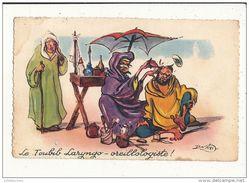 NERI ILLUSTRATEUR HUMOUR NEGRE LE TOUBIB LARYNGO OREILLOLOGISTE CPA BON ETAT - Altre Illustrazioni