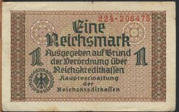 °°° GERMANY - 1 REICHSMARK °°° - [ 4] 1933-1945 : Terzo  Reich