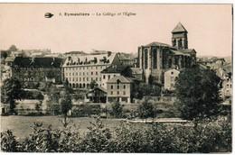 CPA Eymoutiers, Le Collège Et L'Eglise (pk35792) - Eymoutiers