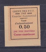 Timbre De Grève De Corse-continent N° 15** - Grève