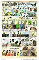 OISEAUX Lot De 100 Timbres Tous Differents. Satisfaction Assurée - Colecciones & Series