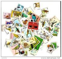 OISEAUX Lot De 200 Timbres Tous Differents. Satisfaction Assurée - Colecciones & Series
