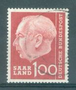 SAAR - SARRE - Mi Nr 398 - Gestempeld/oblitéré - Cote 10,00 € - 1957-59 Fédération