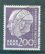 SAAR - SARRE - Mi Nr 399 - Gestempeld/oblitéré - Cote 32,00 € - 1957-59 Fédération