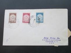 Paraguay 1965 Michel Nr. 923 - 925 Flugpostmarken. Auslandsbrief Nach Yonkers NY. - Paraguay