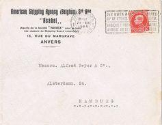 26285. Carta  Comercial ANVERS (Belgien) 1924. American Shipping Agency - Bélgica