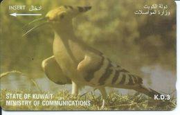 Oiseau Bird Télécarte Animal Phonecard  (D 177) - Koweït