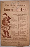 """PARTITION """"L'ÉCHO"""" DE THEODORE BOTREL. CHANSONS BRETONNES. Breizh. Fin XIXe / Début XXe. - Song Books"""