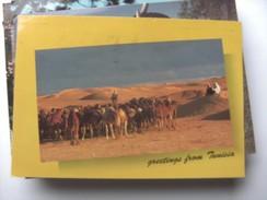 Tunesië Tunisie Tunesia With Greetings Camels - Tunesië