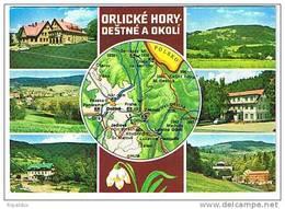Destne A Okoli Mapa Mape Mappe Mappe Landkarte - Czech Republic