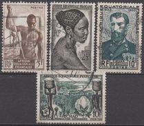 AFRIQUE  EQUATORIALE  FRANCAISE  N°221/226/228/233__ OBL  VOIR  SCAN - Gebraucht