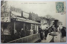 BATEAUX PARISIENS - L'ARRÊT AU PONTON - PARIS - Die Seine Und Ihre Ufer