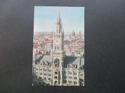 AK Bayern München 1934 Neues Rathaus Mit Glockenspiel. Stempel: Besucht Die Deutsche Siedlungsaustellung München 1934 - Muenchen