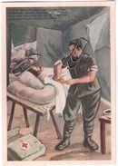 LA MISSIONE DEL MEDICO CON FRASE MUSSOLINI COMITATO ASSISTENZA ORFANI DEI MEDICI MORTI IN GUERRA ANNI 40 - Guerra 1914-18