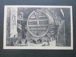 AK Künstlerkarte Heidelberg Das Große Faß, 212422 Liter Fassend. Kunstverlag Edm. V. König Nr. 222 - Hotels & Gaststätten