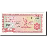 Burundi, 20 Francs, 1991-10-01, KM:27c, NEUF - Burundi