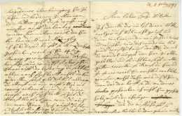 1747 Brief Deutsch O.O. 4 Pp. - Manuscripts