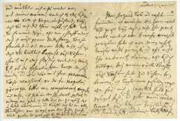 Walbeck 1728 Brief In Deutscher Sprache + Gebet - Manuscripts