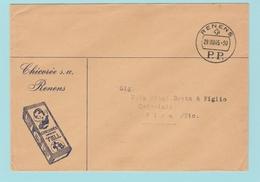 S.23 Lettre Illustrée Chicorée  Tell   Renens P.P.  29.8.45 - Suiza