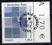 France 2017.Geneviève ASSE.Cachet Rond.Gomme D'origine. - France
