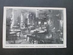 AK 1911 King Yen Lo Co. Chinese Restaurant, Ccr. Clark & Van Buren Sts. Chicago. Chinesisches Restaurant - Hotels & Gaststätten