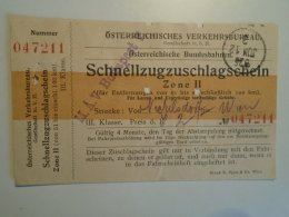 H2.7  Ticket De Train - Railway  -Nickelsdorf -Wien    -1925 -Austria -MÁV Budapest - Unclassified