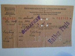 H2.9 Ticket De Train - Railway  -Salzburg -LINZ  -1925 -Austria -Halber Preis - MÁV Budapest - Transportation Tickets