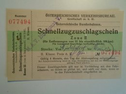 H2.10 Ticket De Train - Railway  - Nickelsdorf-Wien   -1925 -Austria  - MÁV Budapest - Transportation Tickets