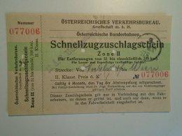 H2.11 Ticket De Train - Railway  - Nickelsdorf-Wien   -1925 -Austria  - MÁV Budapest - Transportation Tickets