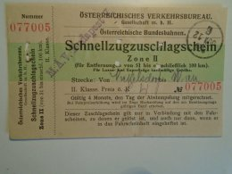 H2.12 Ticket De Train - Railway  - Nickelsdorf-Wien   -1925 -Austria  - MÁV Budapest - Transportation Tickets