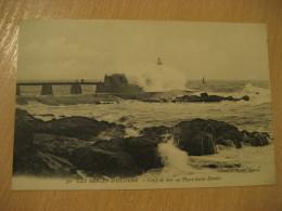 SABLES D'OLONNE Coup De Mer Au Phare Saint-Nicolas Lighthouse Post Card VENDEE France - Sables D'Olonne