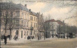 Bruxelles - Avenue Louise (colorisée, Animée, Tram, Tramway, 1908) - Lanen, Boulevards