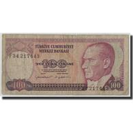 Turquie, 100 Lira, L.1970, KM:194b, B - Turkey