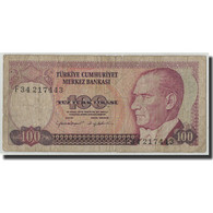 Turquie, 100 Lira, L.1970, KM:194b, B - Turquia