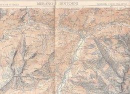 C0264 - CARTINA - CARTA TURISTICA MERANO DINTORNI Touring Club - Carte Topografiche