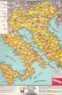 C2094 - CARTA DISTANZE STRADALI ITALIA BENCO Anni '60 - Carte Stradali