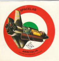 C2095 - ADESIVO STICKER - AVIAZIONE - SOCIETA' AEROSPAZIALE ITALIANA AERITALIA - SPACELAB - Stickers
