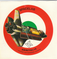 C2095 - ADESIVO STICKER - AVIAZIONE - SOCIETA' AEROSPAZIALE ITALIANA AERITALIA - SPACELAB - Adesivi