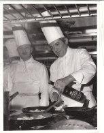 C2099 - FOTOGRAFIA CUOCO - CHEF AIME GUALTIERO - CUCINA - GASTRONOMIA Anni '60 - RISTORANTE CAMBIO TORINO - Mestieri