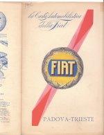 C2119 - CARTA AUTOMOBILISTICA DELLA FIAT De Agostini Anni '30 - PADOVA-TRIESTE - Carte Stradali