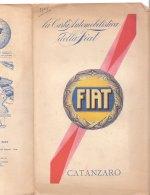 C2125 - CARTA AUTOMOBILISTICA DELLA FIAT De Agostini Anni '30 - CATANZARO - Carte Stradali