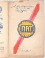 C2126 - CARTA AUTOMOBILISTICA DELLA FIAT De Agostini Anni '30 - SICILIA - Carte Stradali