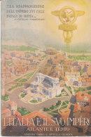 C2133 - L'ITALIA E IL SUO IMPERO ATLANTE TRAFORATO Ed.Enrico Ortelli /FASCISMO MUSSOLINI - Maps