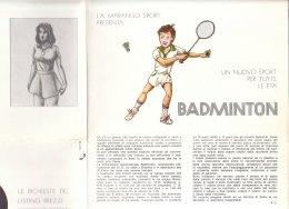 C2154 - Depliant MARANGO SPORT - TENNIS BADMINTON VOLANO Anni '70 - Sport