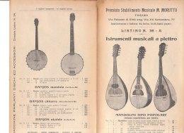 C2155 - Listino Illustrato STRUMENTI MUSICALI A PLETTRO : MANDOLINI - MANDOLE - BANJOS Stab.Musicale - Torino 1929 - Strumenti