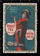 German Poster Stamps, Reklamemarke, Vignette, Cinderellas, Riquet Tee, Tea, Asian, Asien, Leipzig - Erinnophilie